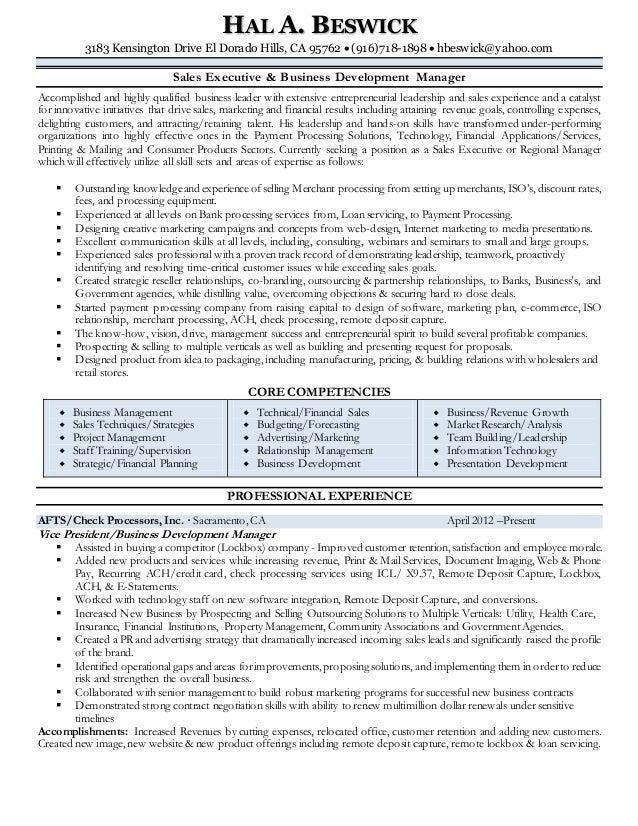 hal beswick resume