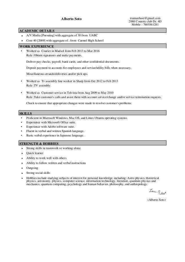 My resume_Professional Resume – 01