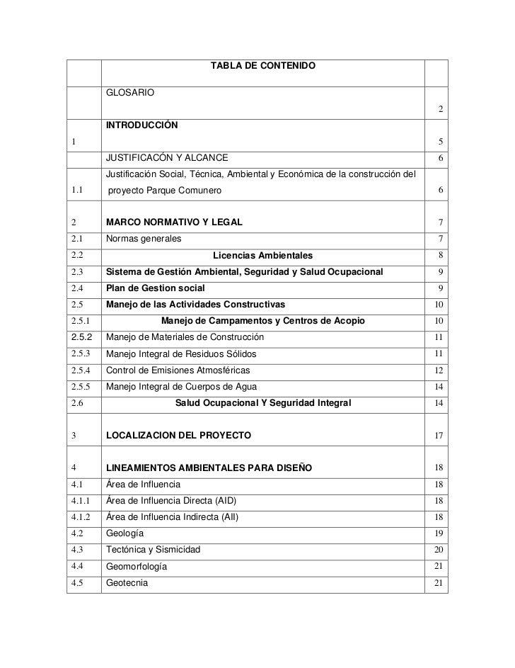 TABLA DE CONTENIDO        GLOSARIO                                                                                      2 ...