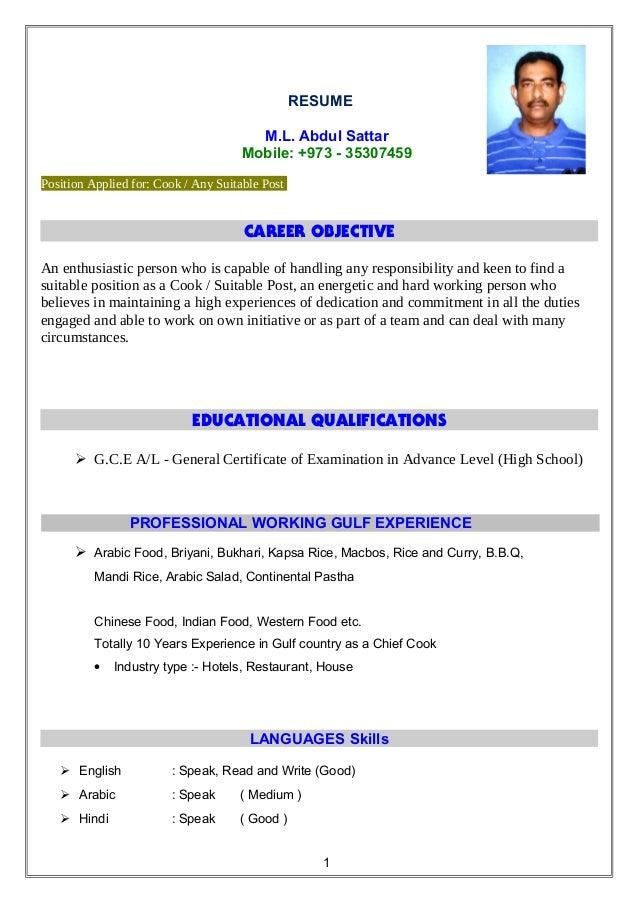 Resume Samples Head Chef Resume Math Teacher Resume