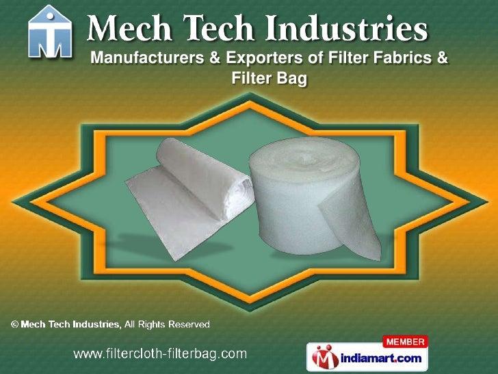 Manufacturers & Exporters of Filter Fabrics &                 Filter Bag