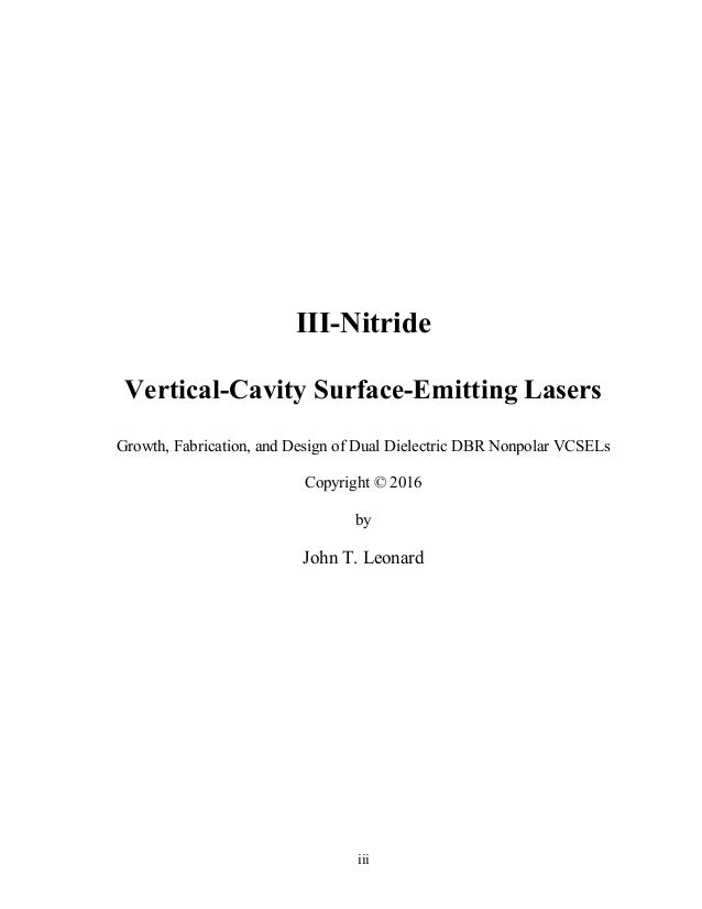 PhD Student Position in Optoelectronics - Vertical Cavity Surface Emitting Lasers