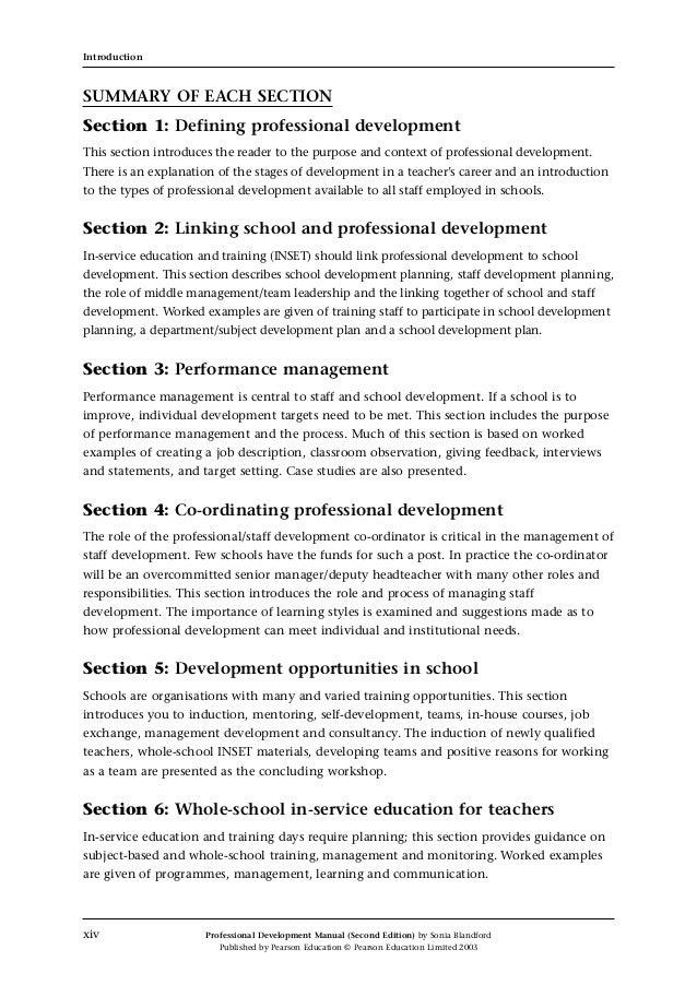 performance training education manual