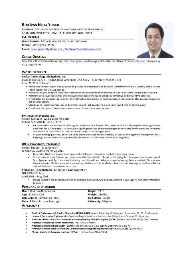 Rod Ivan Yumol Resume 16