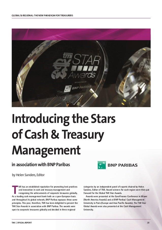 Technology Management Image: 2015 TMI Stars Of Cash & Treasury Management Award