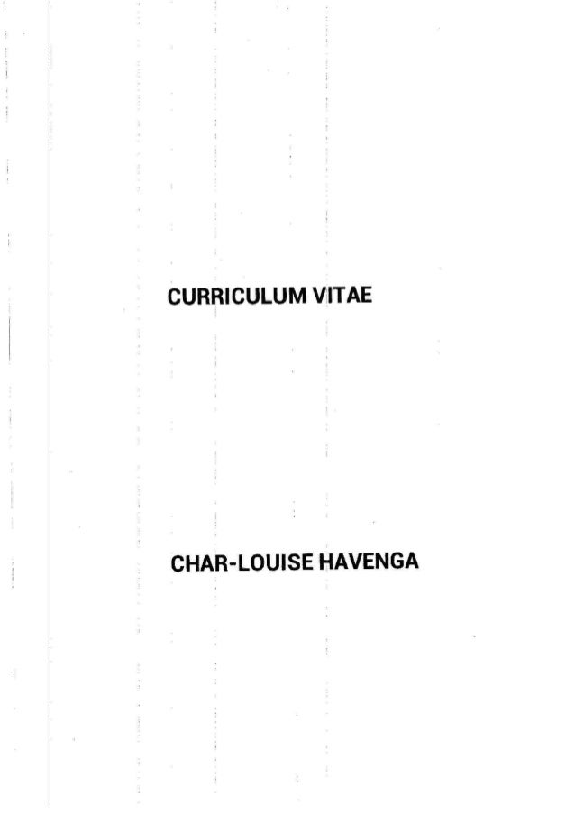 Char-Louise Havenga CV