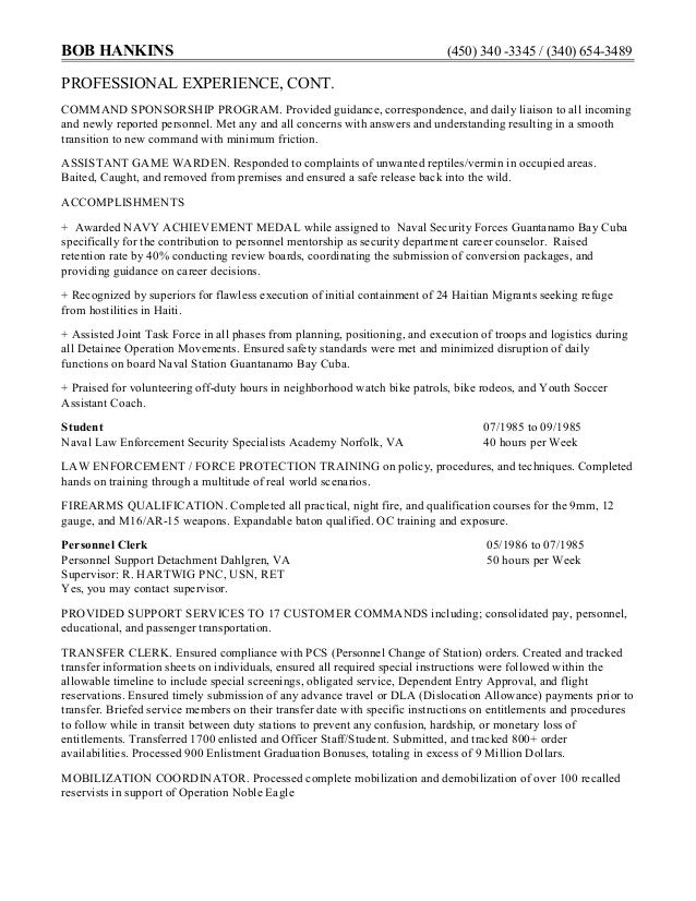 4 sample federal resume
