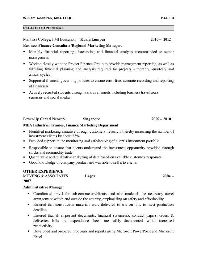 distribution finacial advisor resume for malaysia