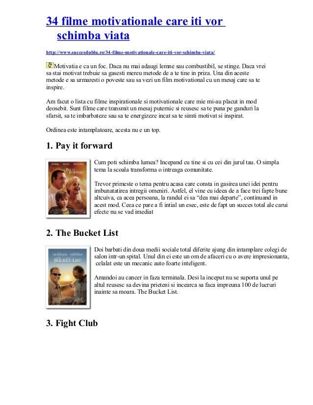 34 filme motivationale care iti vor schimba viata http://www.succesdublu.ro/34-filme-motivationale-care-iti-vor-schimba-vi...