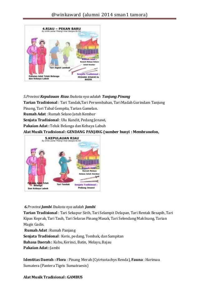 34 Provinsi Di Indonesia Beserta Pakaian