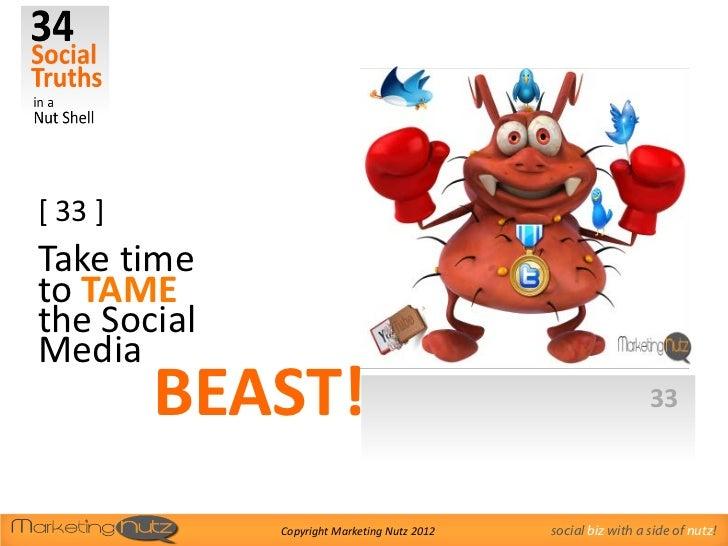 [ 33 ]Take timeto TAMEthe SocialMedia         BEAST!                                                33             Copyrig...
