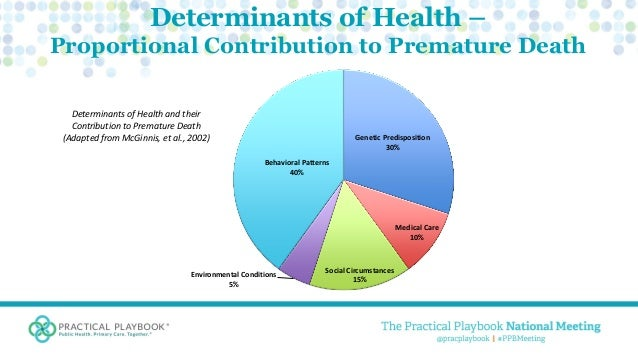 concepts and determinants of health Health promotion model manual pender, nola j  key concepts in nursing defined as a  assist nurses in understanding the major determinants of health.