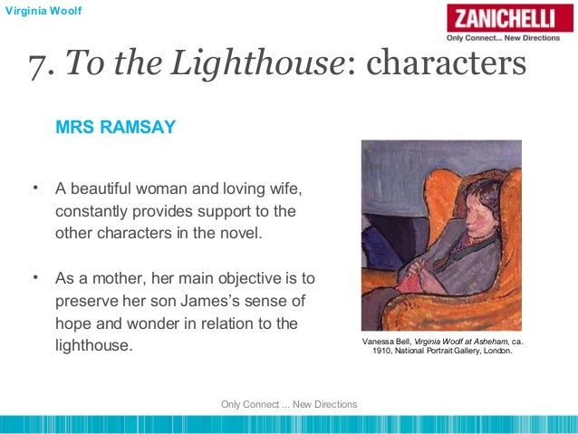 the characterization of mrs ramsay Ramsay gets into these grumpy moods where he's mean, domineering, and tyrannical, but mrs ramsay acted as a mediating force, almost always ready to give him what he wanted the last interesting tidbit of mr ramsay's character that we wanted to point out is the struggle between intellectual achievements vs domesticity.