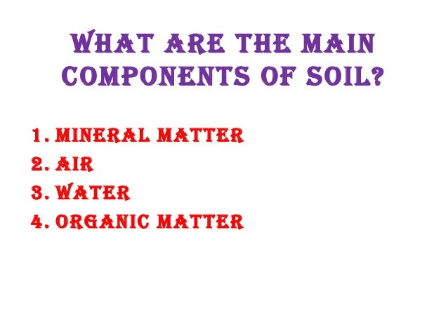 35 soil understanding by allah dad khan for Four main components of soil