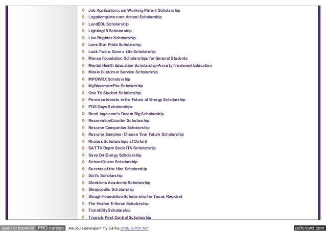 Outside Resources - Scholarships - Tarleton State University