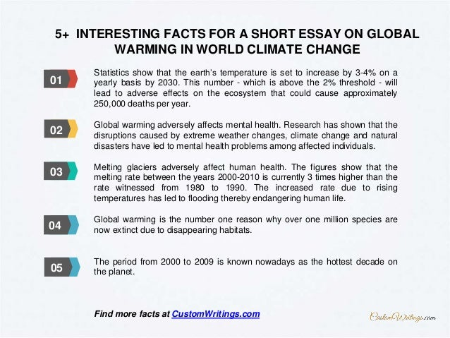 complete guide on writing a short essay on global warming in world cl  03 04 05 02 6 5 interesting facts for a short essay on global warming