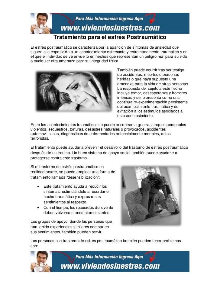 Tratamiento para el estrés PostraumáticoEl estrés postraumático se caracteriza por la aparición de síntomas de ansiedad qu...