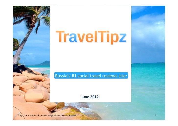 Russia's #1 social travel reviews site*                                                                     ...