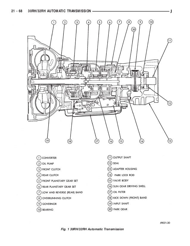 2001 Jeep Wrangler Automatic Transmission Parts Diagram