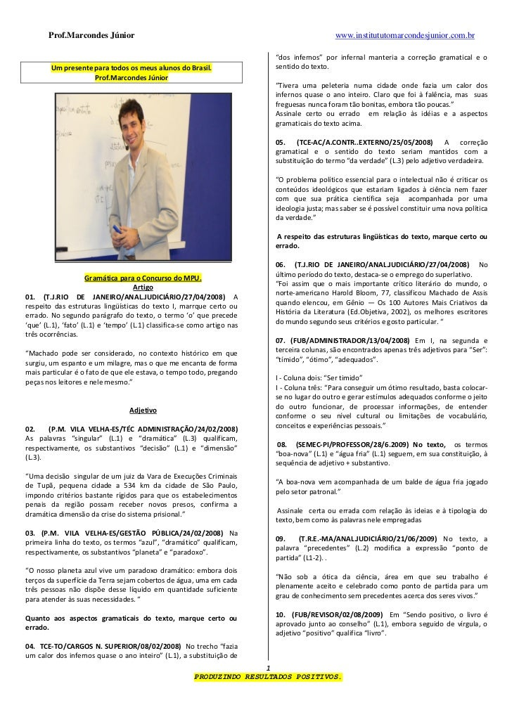 Prof.Marcondes Júnior                                                                 www.institututomarcondesjunior.com.b...