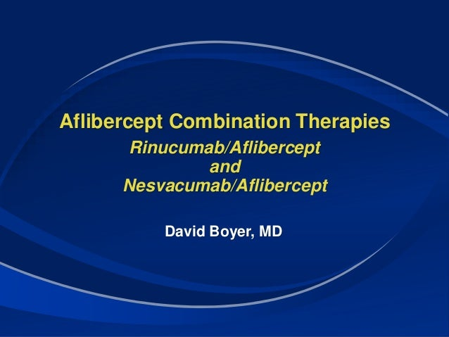 Emerging Approaches To Combination Therapies In Amd Dme Regeneron