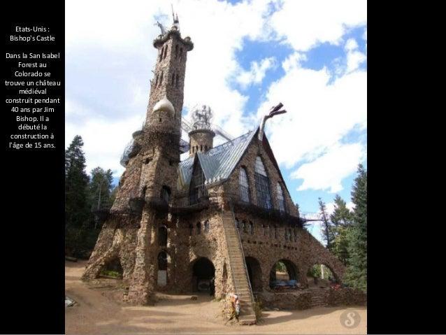 Etats-Unis :  Bishop's Castle  Dans la San Isabel  Forest au  Colorado se  trouve un château  médiéval  construit pendant ...