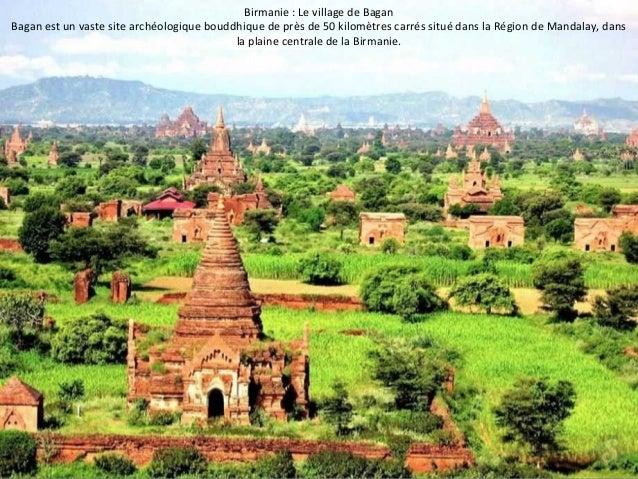 Birmanie : Le village de Bagan  Bagan est un vaste site archéologique bouddhique de près de 50 kilomètres carrés situé dan...