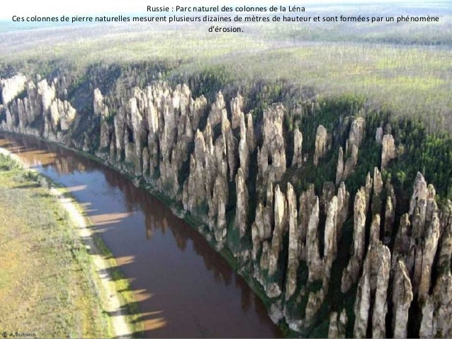Russie : Parc naturel des colonnes de la Léna  Ces colonnes de pierre naturelles mesurent plusieurs dizaines de mètres de ...
