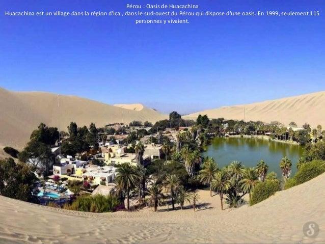 Pérou : Oasis de Huacachina  Huacachina est un village dans la région d'Ica , dans le sud-ouest du Pérou qui dispose d'une...