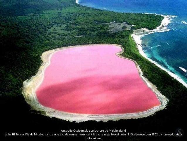 Australie-Occidentale : Le lac rose de Middle Island  Le lac Hillier sur l'île de Middle Island a une eau de couleur rose,...