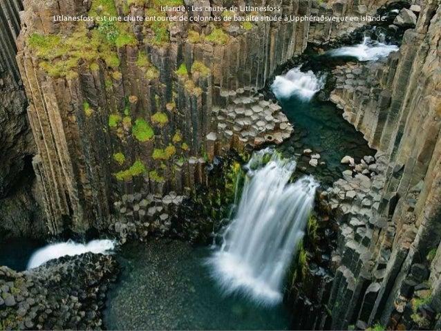 Islande : Les chutes de Litlanesfoss  Lítlanesfoss est une chute entourée de colonnes de basalte située à Upphéraðsvegur e...