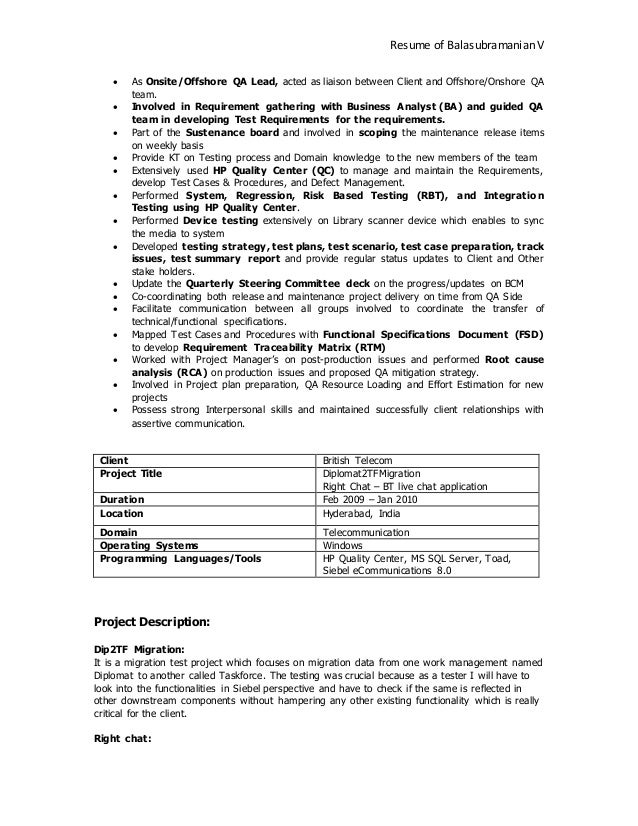 balasubramanian  viswanathan resume
