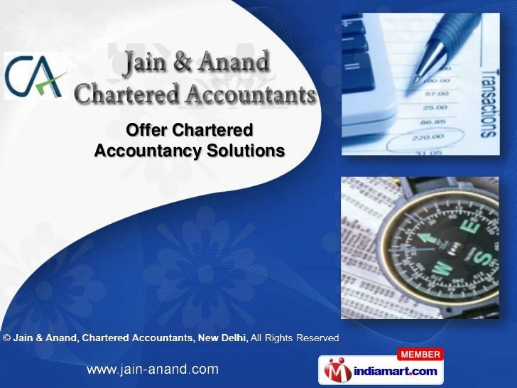 Offer CharteredAccountancy Solutions