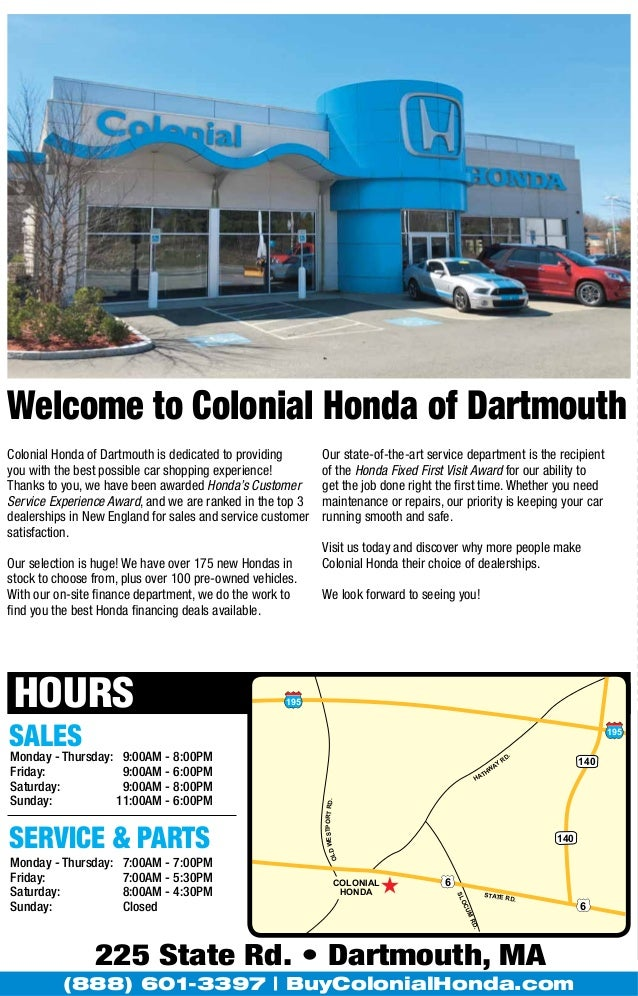 ... 12. Welcome To Colonial Honda Of Dartmouth ...