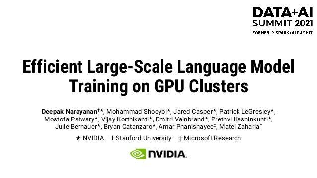 Efficient Large-Scale Language Model Training on GPU Clusters