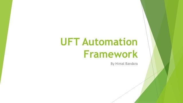 UFT Automation Framework Introduction
