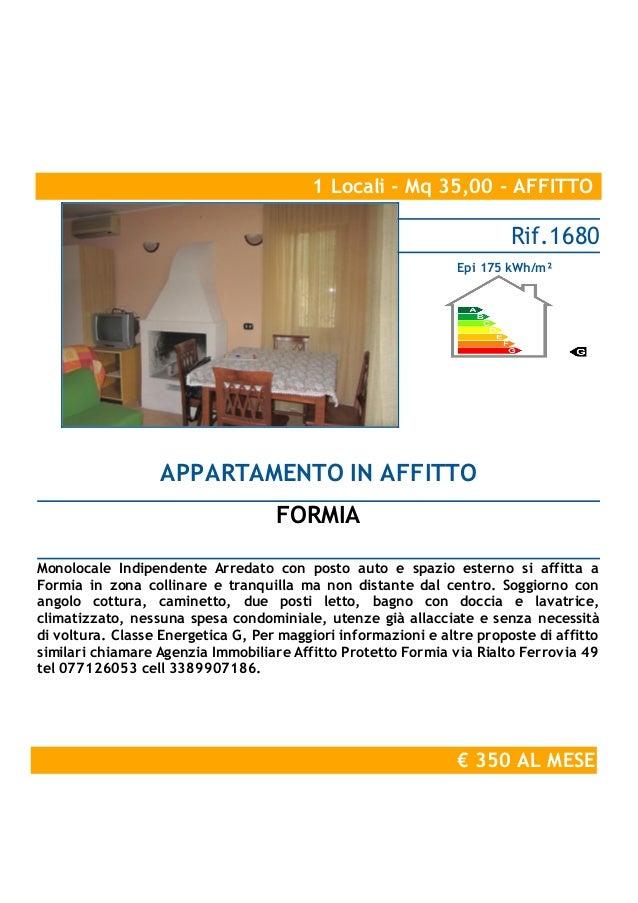 350 monolocale arredato affitto formia santa maria la noce for Monolocale arredato affitto
