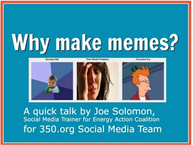 Presentation for 350.org Volunteer Social Media Team