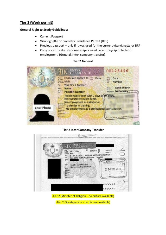 Uk Visa Categories And Types