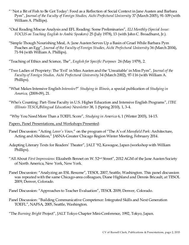 clark publications presentations list 2015