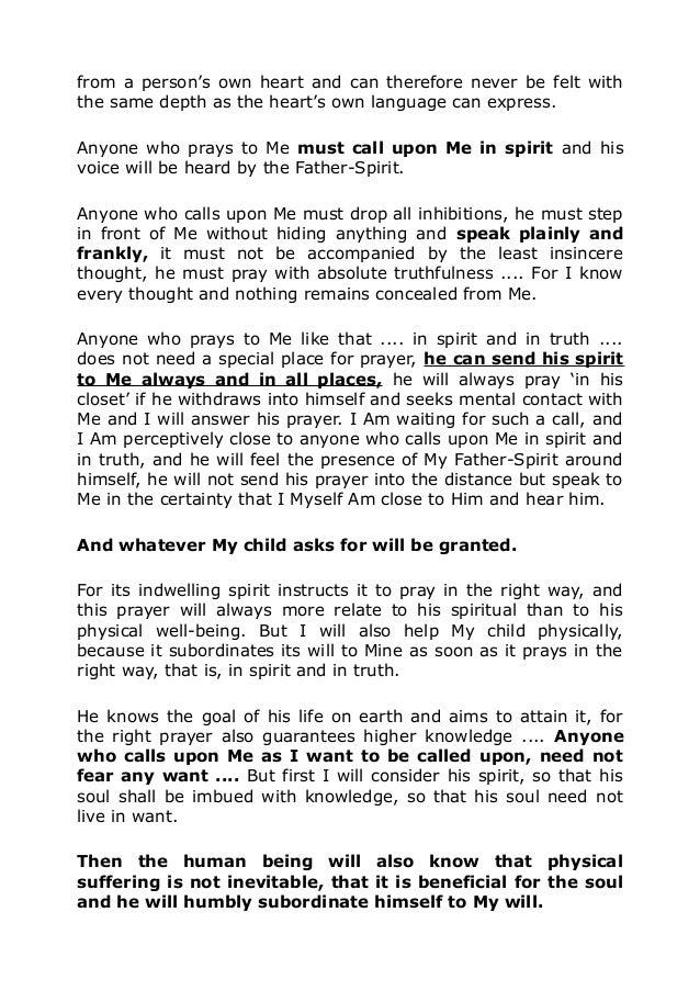 3515 Prayer in spirit and in truth
