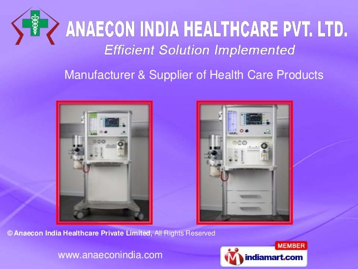 Manufacturer & Supplier of Health Care Products© Anaecon India Healthcare Private Limited, All Rights Reserved            ...