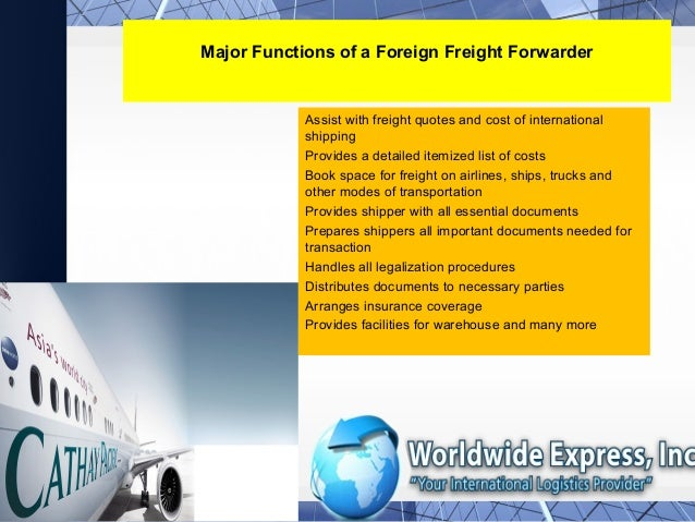 Licensed Foreign FreightForwarders in Pennsylvania