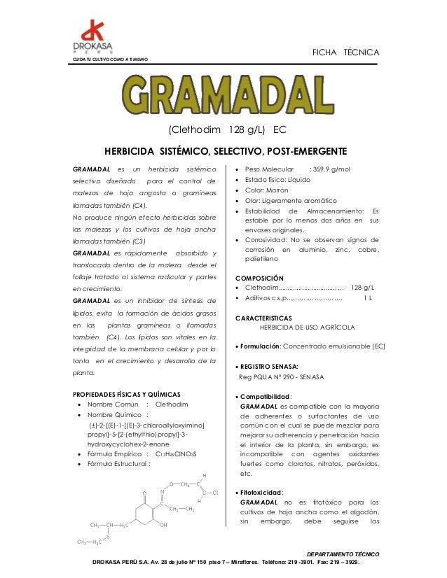 FICHA TÉCNICACUIDA TU CULTIVO COMO A TI MISMO                                        (Clethodim 128 g/L) EC             HE...