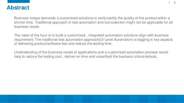 Customized Test Automation Solution Slide 3