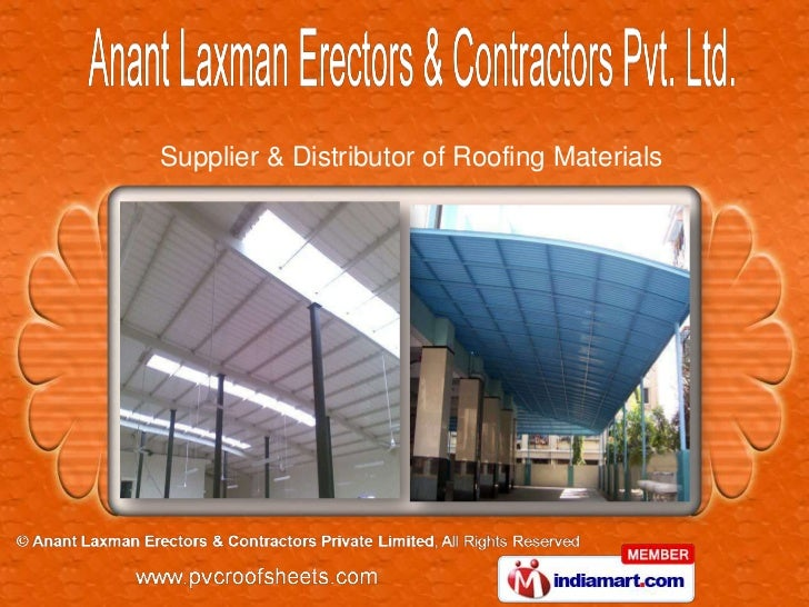 Supplier & Distributor of Roofing Materials