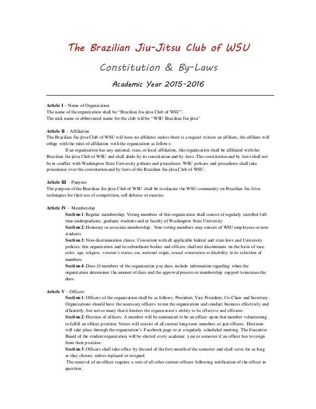 constitution and bylaws of the brazilian jiu jitsu club of wsu acade