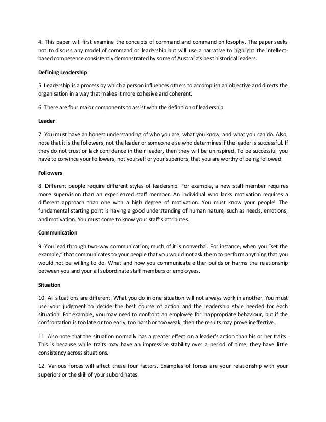 leadership essays army