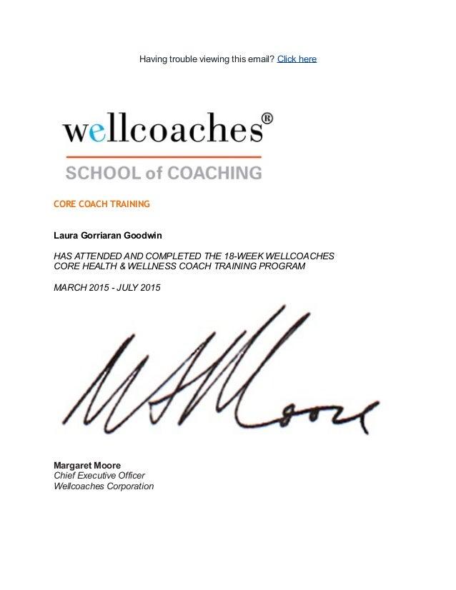 wellcoach attend
