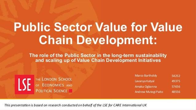 Technology Management Image: Public Sector Value For Value Chain Development